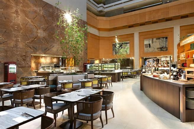 台北喜來登十二廚自助餐廳廳景。(業者提供)