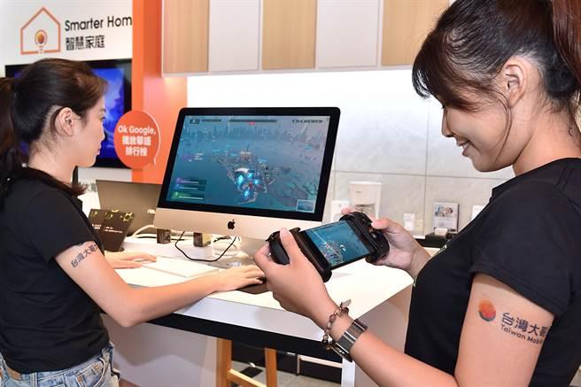 台灣大雲遊戲服務GeForce NOW 聯盟Taiwan Mobile正式上線。(台灣大提供/黃慧雯台北傳真)