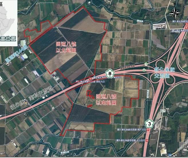 因應台商回流,經濟部在全台找地,台糖農場變產業園區,台南新市產業園區即是一處,占地約98公頃。(讀者提供/莊曜聰台南傳真)