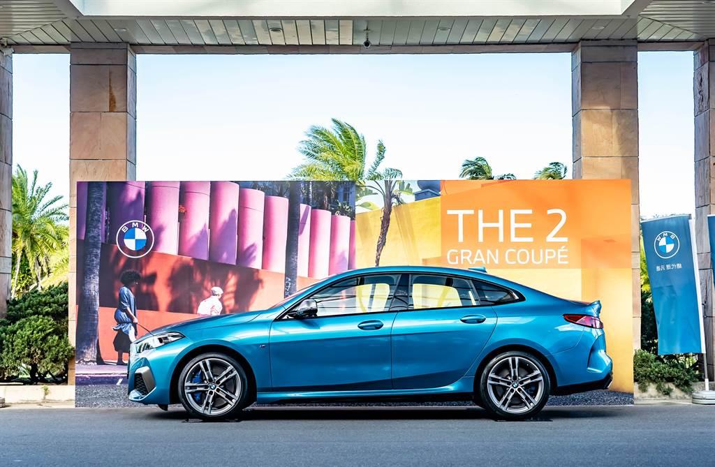 活動現場展出兼具帥氣外型與駕馭樂趣的全新BMW 2系列Gran Coupé。
