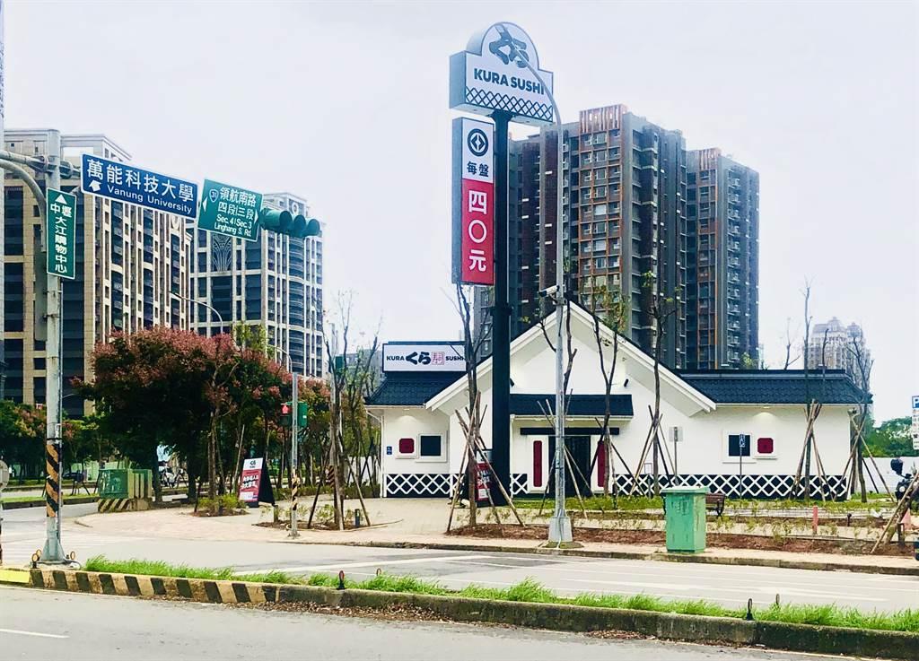 日本的連鎖品牌「藏壽司」在桃園開幕首間街邊店。(台灣房屋提供)