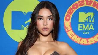 21歲女星鏤空禮服超狂野 透視絲裙挑戰極致S曲線