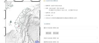 台南南化山區深夜連3震 居民心驚膽跳