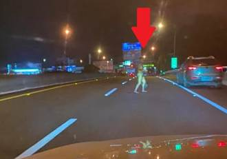 男國道自撞秒「脫光衣服」 下車裸奔遛鳥駕駛全嚇壞