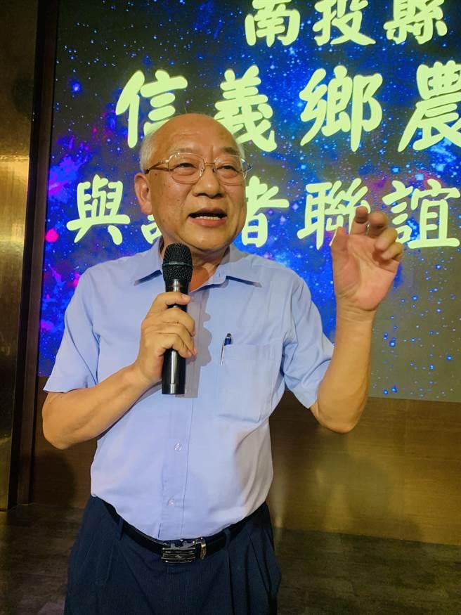 信義鄉農會總幹事黃志輝,將信義鄉農會打造成玉山下的亮點。(廖志晃攝)