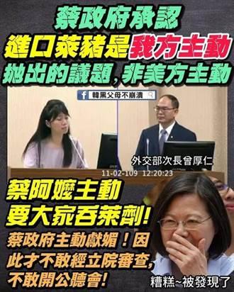 質詢揭民進黨自動開放萊豬 李彥秀為「對手」高嘉瑜捏冷汗