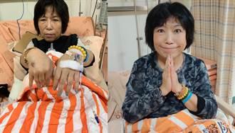 雙手滿是針痕 葉毓蘭:不知道還要住院幾天