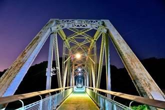 縱貫鐵路最美交通工藝品 台中花梁鋼橋百歲橋墩復舊完工