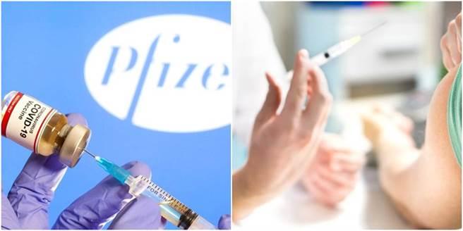 輝瑞疫苗試驗者曝施打第1劑後副作用,另外也有施打過第2劑的民眾表示,副作用更為劇烈。(圖/合成圖,路透社、達志影像)