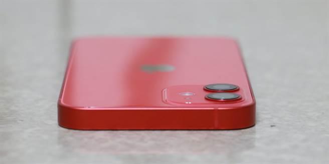 iPhone 12 mini頂部。(摘自蘋果官網)