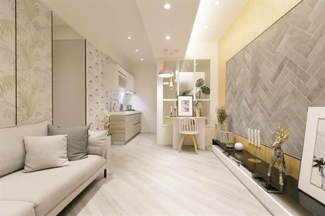 「樂洋洋」採連續壁建築工法,共有2房、3房等格局規劃,選擇多樣。(圖/中時新聞網攝)