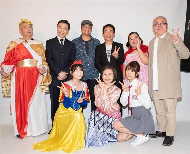 音樂劇《童話秀逗秀》11日舉辦定裝記者會。(光源劇場提供)