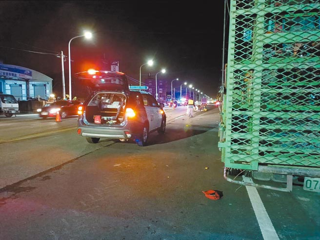 雲林縣北港警分局31歲黃姓女員警9日下班回家途中,發生車禍不幸當場死亡。(張毓翎攝)