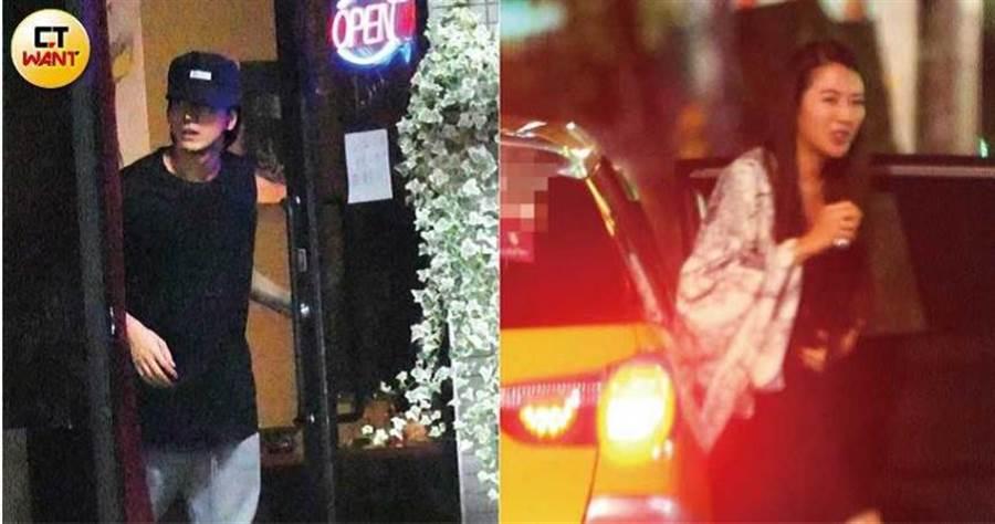 晚上8點多,張熙恩搭計程車到大安區的小酒館參加聚會。而身為張熙恩的陳年緋聞男友,言承旭凌晨果然也現身小酒館,一路待到凌晨3點多。(圖/本刊攝影組)