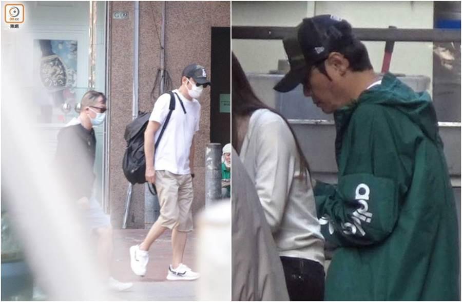 羅嘉良被直擊,悄悄現身香港癌症中心。(圖/取材自東網)