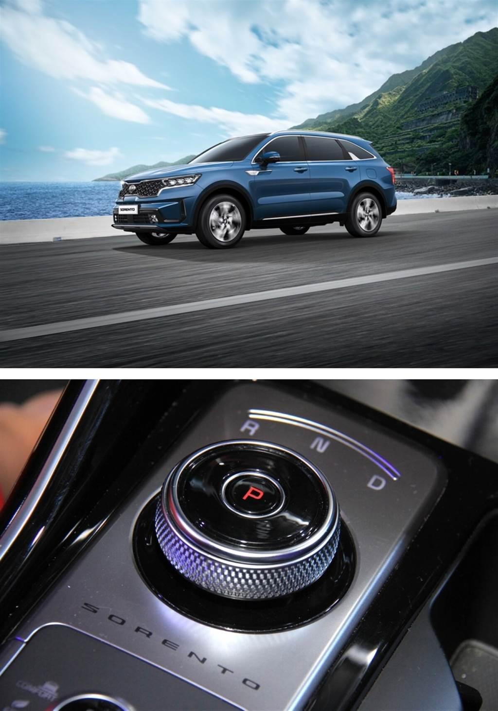 旋鈕式換檔為六人座專屬,七人座車型為傳統的直立式排檔桿。