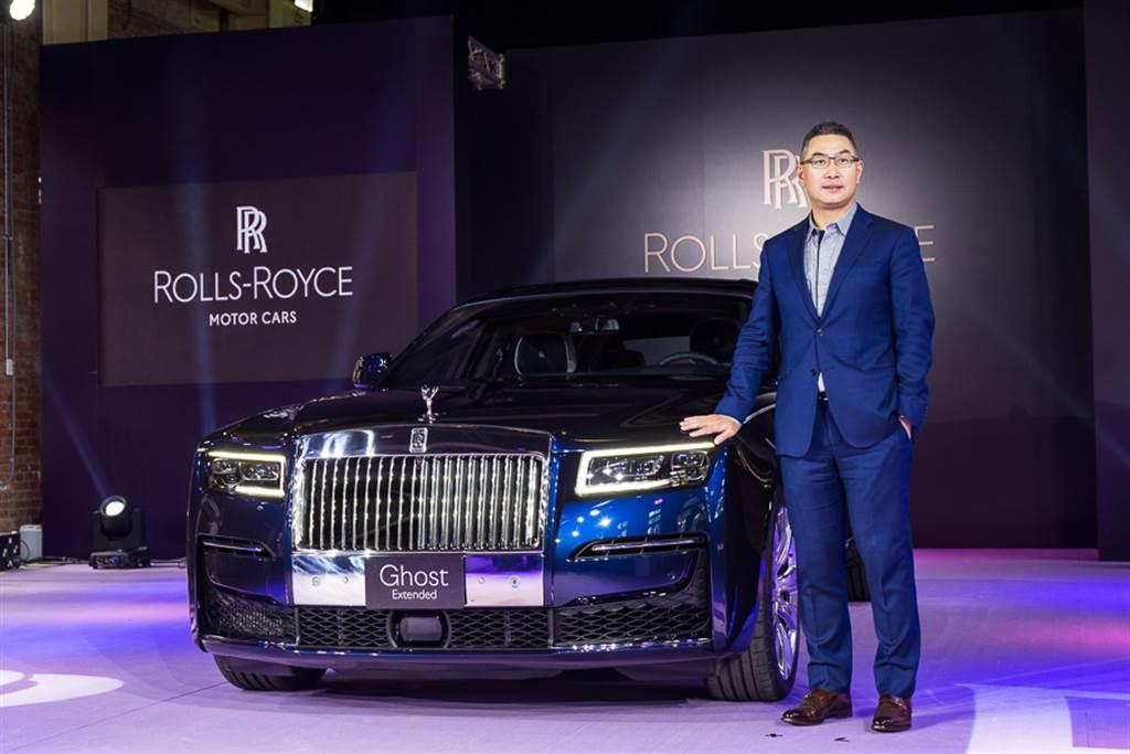 Rolls-Royce總代理盛惟公司董事長蔡伯翰,在台發表第二代Ghost。