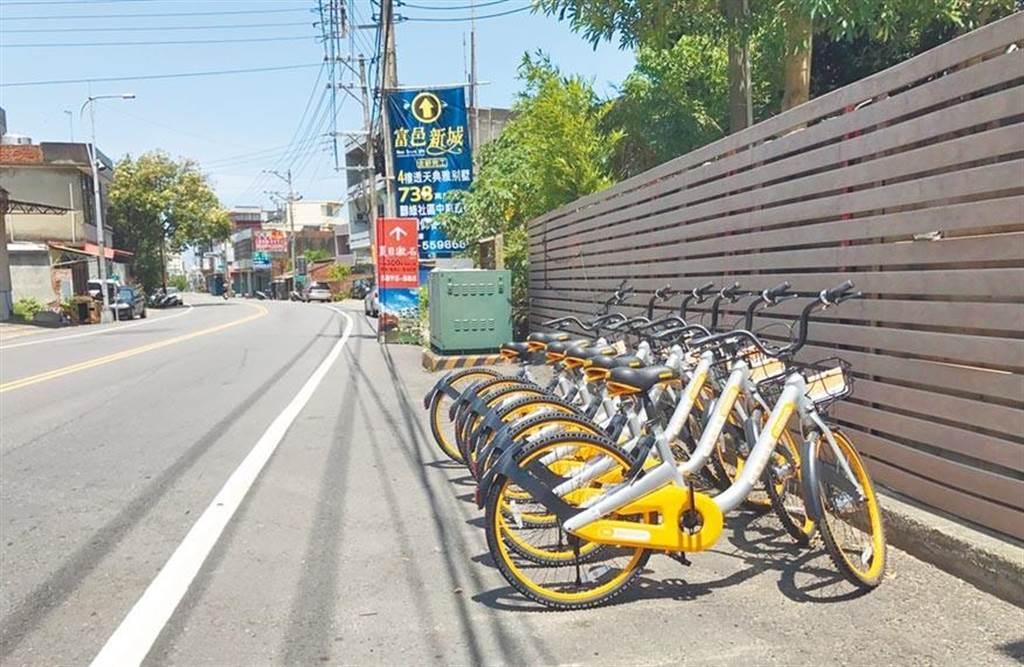 新竹縣過去曾有共享單車進駐,如今也有不少民眾期望能設置ubike,增加生活機動性。(本報資料照片)