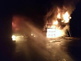 宜蘭鐵工廠凌晨傳火警 幸無人員傷亡