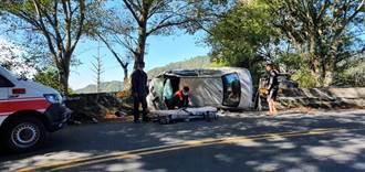 台14甲線1公里處 小客車自撞4女輕重傷