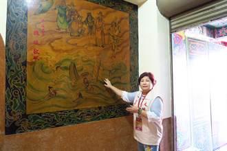 白河廟宇修繕 發現11幅潘麗水大師畫作