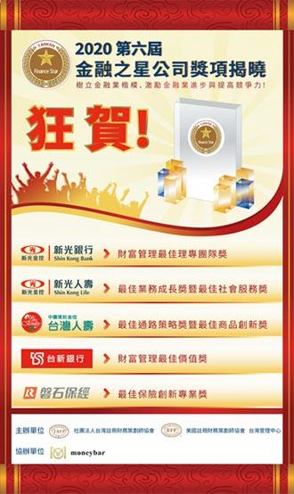 台灣金融之星公司獎項 得獎揭曉 2銀行2保險1保經囊括七大獎項