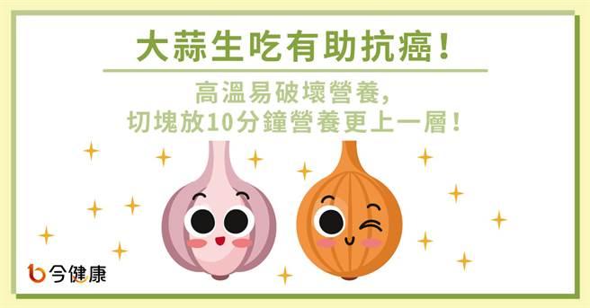 大蒜生吃有助抗癌。(圖/今健康提供)
