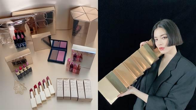 NARS今年聖誕節推出金燦時刻系列限定彩妝,聖誕倒數月曆集結12色唇彩暢銷熱賣色號。(圖/邱映慈攝影)