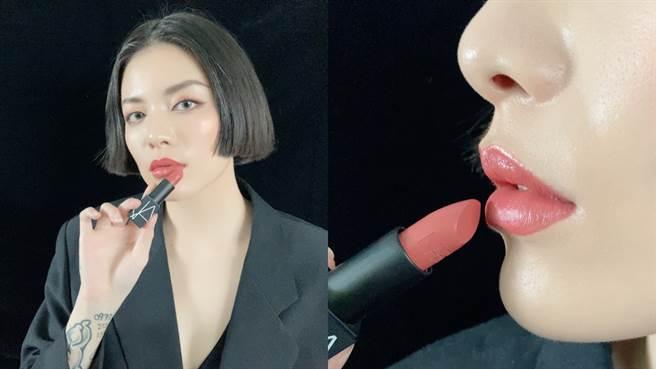 絕對經典唇膏#TOLEDE 玫瑰豆沙。(圖/邱映慈攝影)