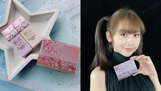 心機星魅輕羽粉餅、心機星魅平衡持妝控妝前乳推出美少女戰士2020限定版。(圖/邱映慈攝影)