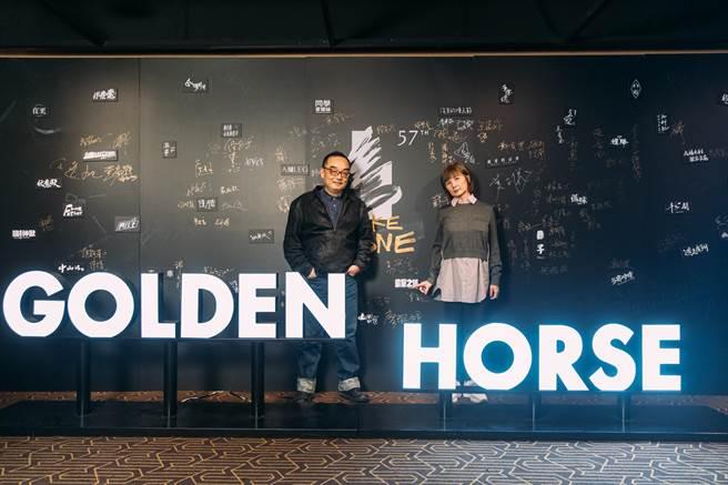 導演易智言、監製李烈出席動畫電影《廢棄之城》金馬影展世界首映。(金馬執委會提供)