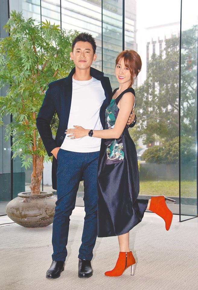 37歲的吳慷仁(左)和小6歲的邵雨薇因戲結緣,2人昨終於認愛。(資料照片)