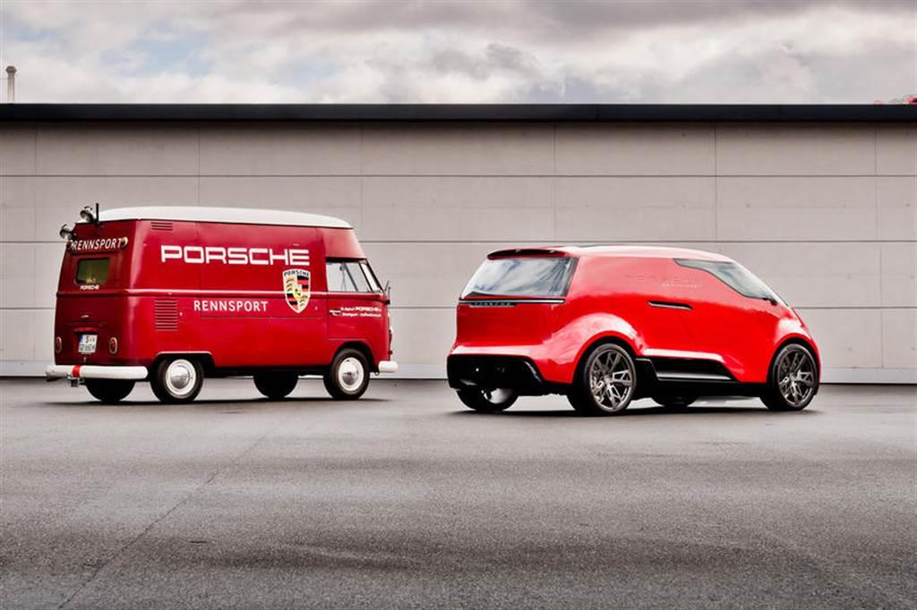 你沒看過的保時捷電動廂型車 Porsche Renndienst 首次露臉!
