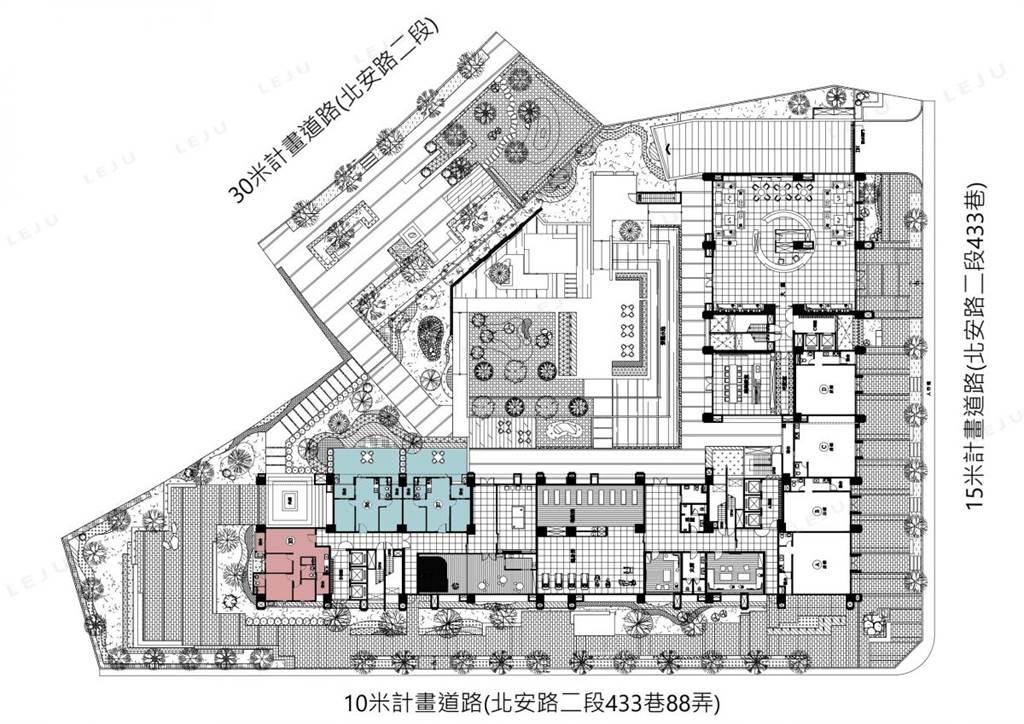 北安公園一樓平面圖