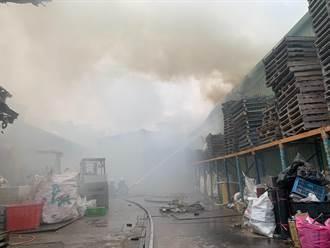 中和資源回收場火警 大量濃煙不斷竄出