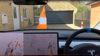 Tesla FSD Beta 對於交通錐的識別更上一層樓了