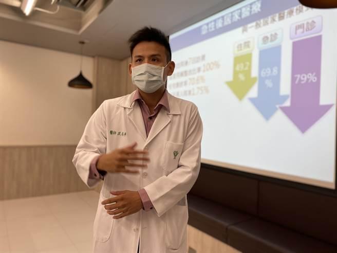 奇美醫學中心推出「急診轉居家」服務,成果顯著,圖為洪尚平醫師。(曹婷婷攝)