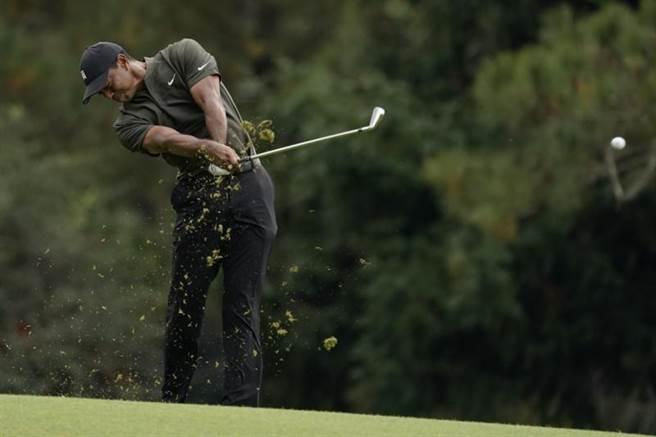 尋求衛冕的前球王老虎伍茲在美國名人賽首回繳出68桿並列第四。(美聯社)