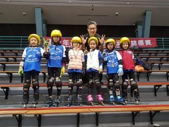 中市市長盃滑冰錦標賽登場 150人冰上競技