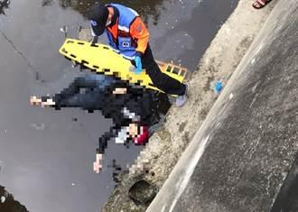 墜4米深大排  女騎士返家遇劫撞休旅車 傷重不治