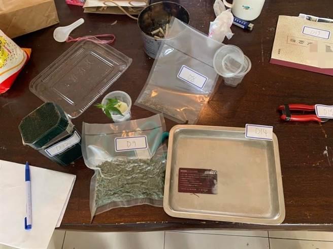 屏東警方在竹田鄉一處農舍,查獲大麻種植製造工廠,起出524株大麻植株及成品,市價超過2億元。(翻攝畫面/潘建志屏東傳真)