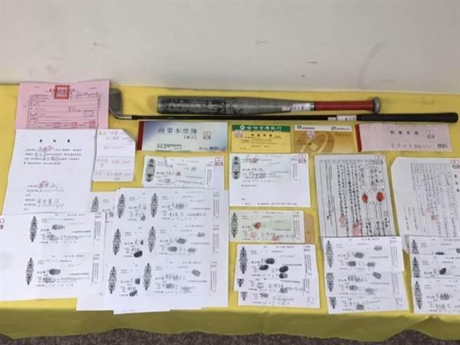 專案小組搜出蔡嫌要被害人簽下的本票,全案依法一併究辦。(警方提供/陳世宗台中傳真)