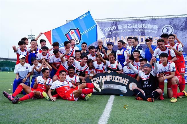 台灣中油拿下2020台灣乙級足球聯賽冠軍,明年將升上企甲聯賽。(中華足協提供)