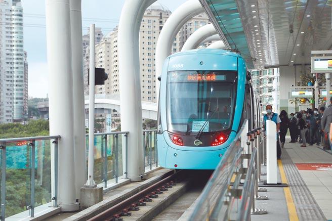 淡海輕軌第一期的藍海線三站即將於明(15)日通車。(本報資料照)