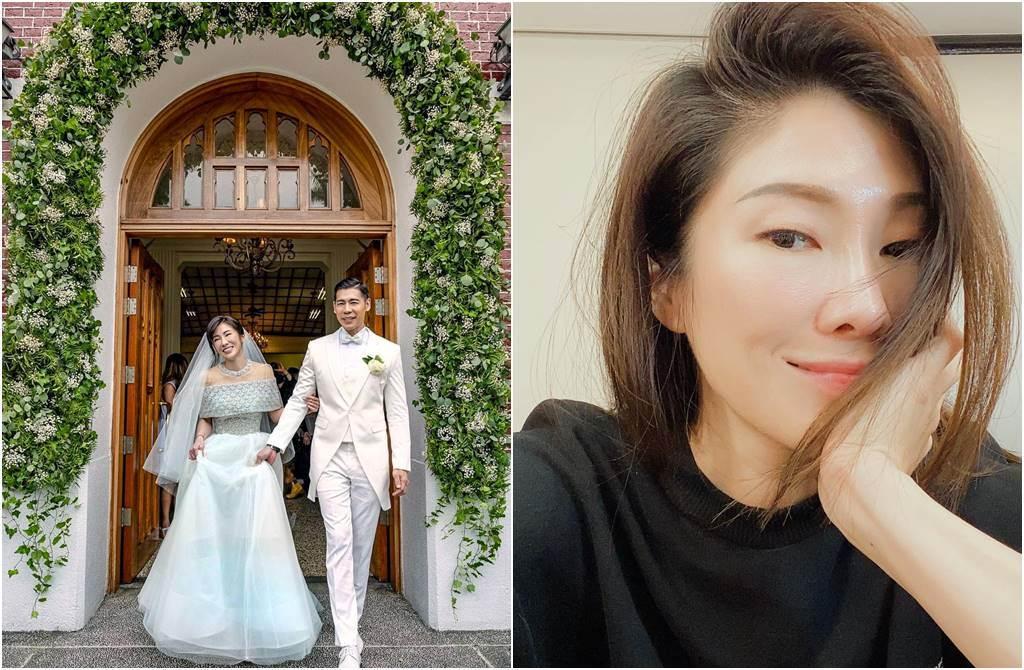 KIMIKO辦完婚禮後,近日卻身陷「混珍洗珠」風波。(圖/取材自KIMIKO臉書)