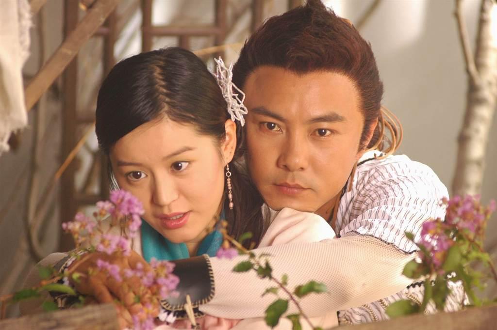 柏雪在戏中饰演「小仙女」慕蓉仙,和张卫健饰演的小鱼儿有感情对手戏。(图/ 取自中时资料库)