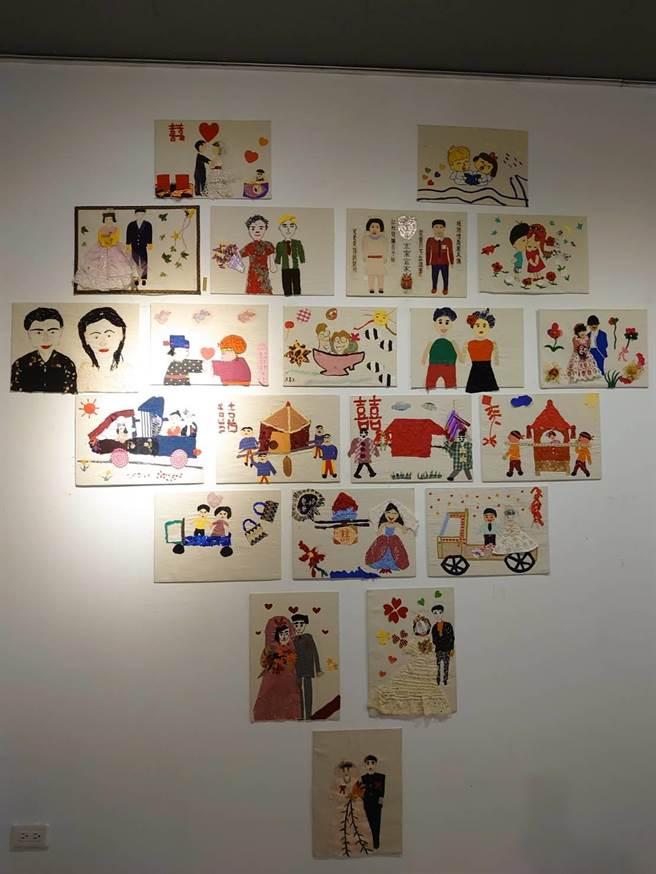 集結花東縱谷間社區高齡長者創作,透過拼布重現自己的生命回憶作品的「三媽拼布展」,即日起在花蓮縣客家文化會館展出。(花蓮縣府客家事務處提供/羅亦晽花蓮傳真)