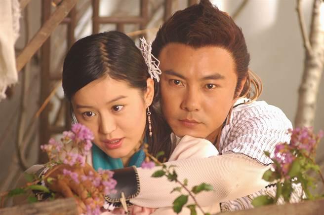 柏雪在戲中飾演「小仙女」慕蓉仙,和張衛健飾演的小魚兒有感情對手戲。(圖/ 取自中時資料庫)