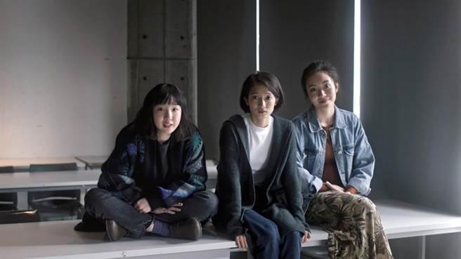 公視人生劇展《月亮女孩》(左起)劉主平、韓寧、陳又瑄飾演個性不同的好友。(公視提供)