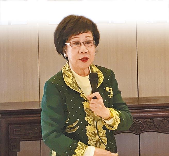 前副總統呂秀蓮昨出席研討會,首度透露一段過去訪陸祕辛。(林勁傑攝)